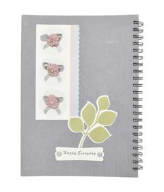 Silver Note book w/Spiral A4