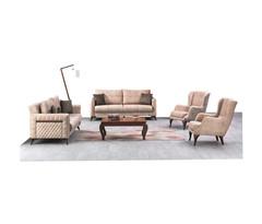 Sofa Set Sili  3+3+1+1 , Cream
