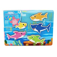 Spin Master Puzzle Baby Shark Chunky Wood Sound Puzzle