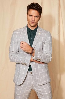 Striped Slim Fit Blazer Jacket 8698335449810 -54