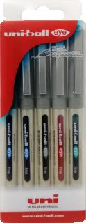 Uni-ball Eye fine pen Wlt:5col