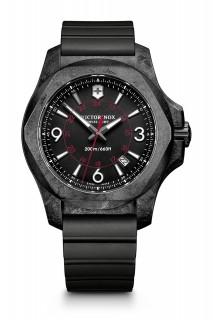 Victorinox I.N.O.X. Carbon Black Dial Mens Rubber Watch