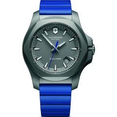 Victorinox I.N.O.X. Grey Dial Mens Blue Rubber Watch