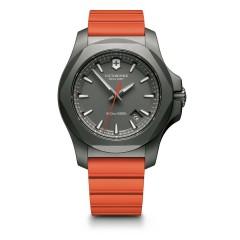 Victorinox I.N.O.X. Grey Dial Orange Rubber Mens Watch