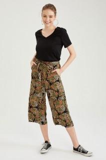 Woman BLACK-100-08 Trousers-46