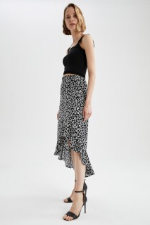 Woman BLACK Woven Skirt-34