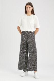 Woman BLACK Woven Trousers-36
