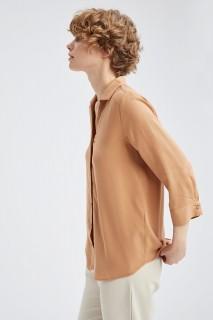 Woman CAMEL Long Sleeve Shirt-XL
