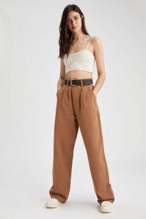 Woman CAMEL Trousers-42