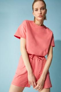 Woman CORAL Short Sleeve T-Shirt-XXL