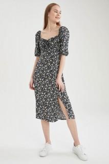 Woman D.BLUE Long Sleeve Woven Dress-42