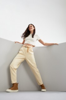 Woman D.ECRU Trousers-40