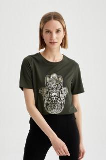 Woman D.KHAKI Short Sleeve T-Shirt-L