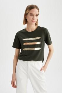 Woman D.KHAKI Short Sleeve T-Shirt-XL