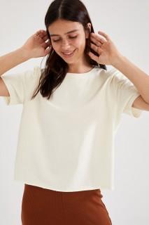 Woman ECRU Knitted Tops-3XL