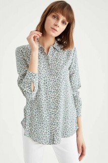 Woman ECRU Long Sleeve Shirt-4XL