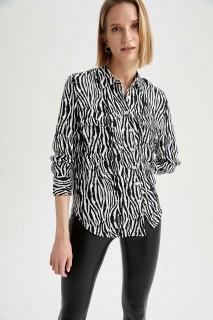 Woman ECRU Long Sleeve Shirt-S