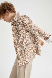 Woman ECRU Long Sleeve Shirt-XL