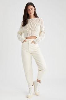 Woman ECRU Trousers-40
