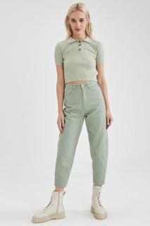 Woman GREEN MELANGE Trousers-42