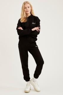 Woman Knitted Trousers BLACK- XXS