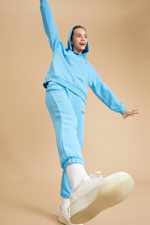 Woman Knitted Trousers BLUE- XS