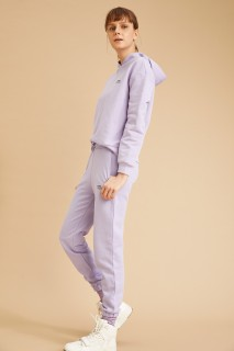 Woman Knitted Trousers LT.LILAC- XXS
