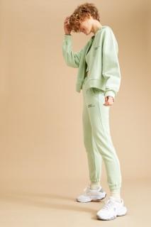 Woman Knitted Trousers MINT- XXS