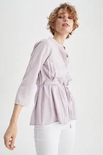 Woman LILAC Long Sleeve Shirt-XL