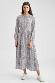 Woman LILAC Long Sleeve Woven Dress-42