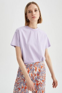 Woman LILAC Short Sleeve T-Shirt-XXL