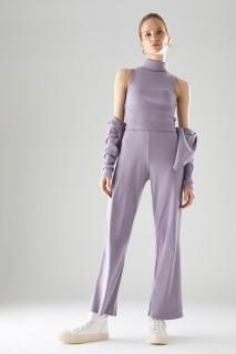 Woman LILAC Trousers-XL