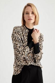 Woman Long Sleeve Blouse ECRU- S