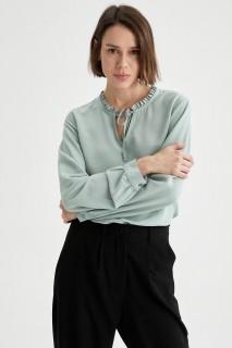 Woman Long Sleeve Blouse MINT- S