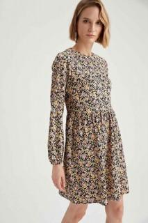 Woman Long Sleeve Knitted Dress LILA-350-13- XS
