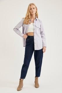 Woman Long Sleeve Shirt LILAC- XS
