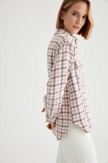 Woman Long Sleeve Shirt LT.LILAC- S