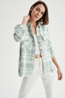 Woman Long Sleeve Shirt MINT- XS