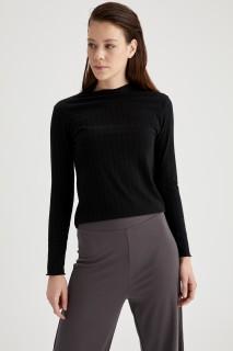 Woman Long Sleeve T-Shirt BLACK- S