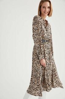 Woman Long Sleeve Woven Dress LT.VISON- 44
