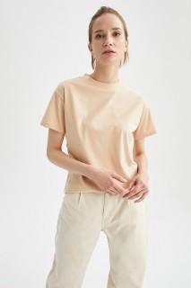 Woman LT.BEIGE Short Sleeve T-Shirt-S