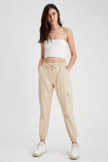 Woman LT.BEIGE Trousers-40
