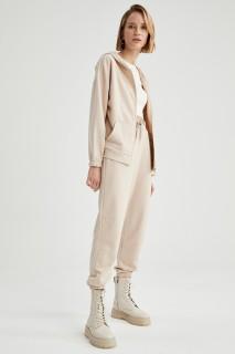 Woman LT.BEIGE Trousers-XS