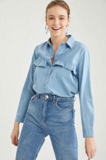 Woman LT.BLUE Shirt-L