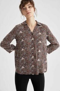 Woman LT.BROWN Long Sleeve Shirt-3XL