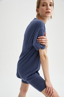 Woman LT.INDIGO Short Sleeve T-Shirt-L