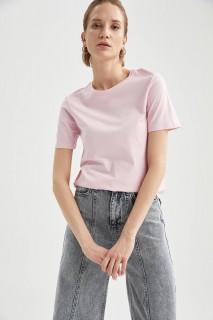 Woman LT.PINK Short Sleeve T-Shirt-L