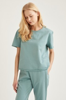 Woman Mint Knitted Tops-3XL
