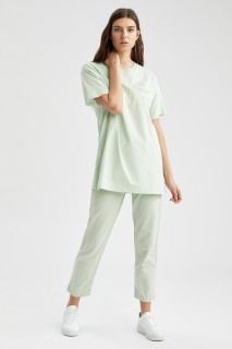 Woman MINT Knitted Trousers-L