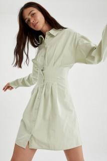 Woman MINT Long Sleeve Woven Dress-42